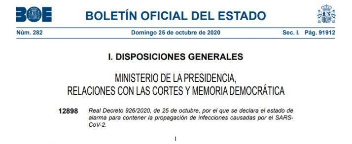 Foto 1 - ¿Quieres conocer el R. Decreto por el que el Gobierno declara el estado de alarma en España?