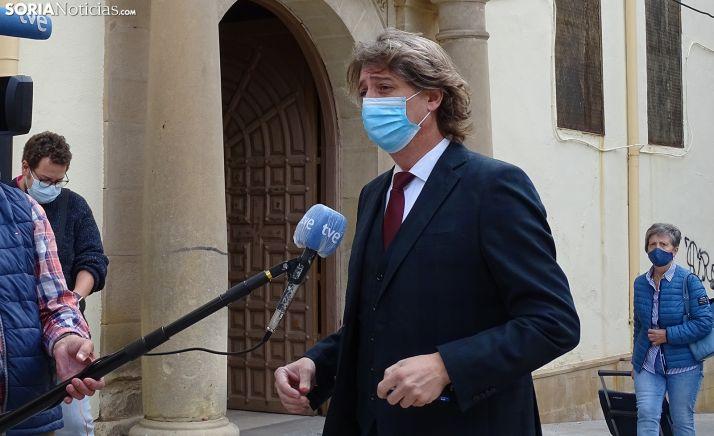 Carlos Martínez Mínguez, este miércoles ante la prensa. /SN