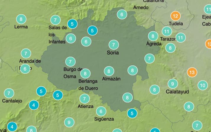 Foto 1 - El tiempo en Soria: nubes y heladas débiles