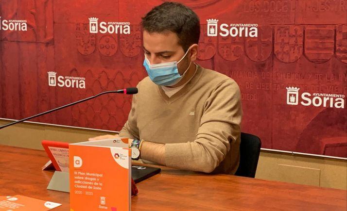 Eder García, en comparecencia ante los medios. /Ayto.