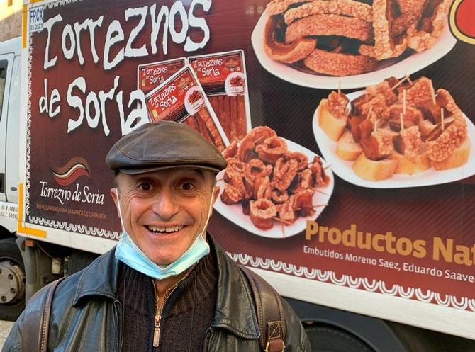 Pepe Viyuela, otro que cae rendido ante los encantos del Torrezno de Soria