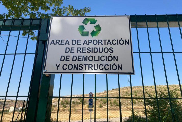 Área de aportación de residuos de demolición y construcción de la provincia de Soria.