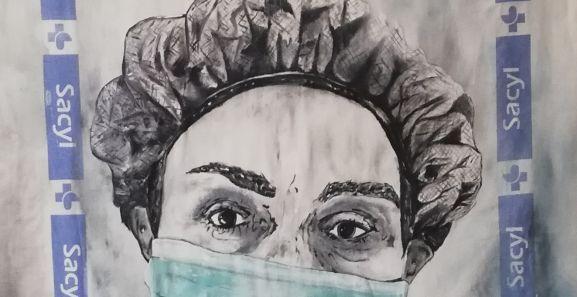 Imagen de la la exposición 'Los ojos que te miran Covid19' de la artista Julita Romera