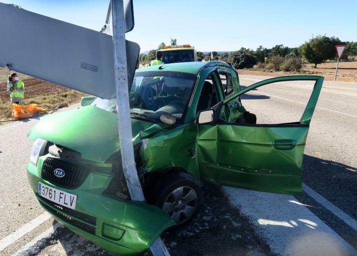 Foto 2 - ACTUALIZACIÓN: Fallece una vecina de Madrid en un accidente de tráfico ocurrido en el cruce de Berlanga de Duero