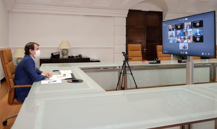 Una imagen de la reunión telemática de esta mañana. /Jta.
