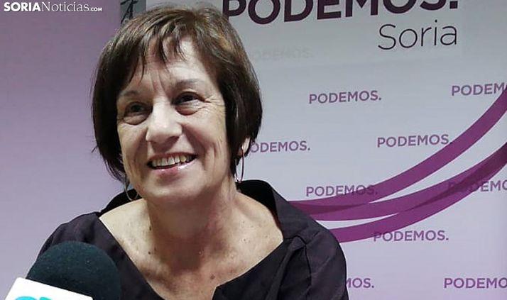 Marisa Muñoz, concejala de Podemos en la capital. /SN