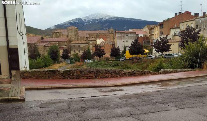 Vista del Moncayo, en Ágreda, este sábado. /SN