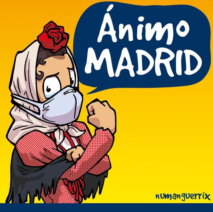 Foto 1 - El mensaje de aliento soriano que se hace viral en Madrid