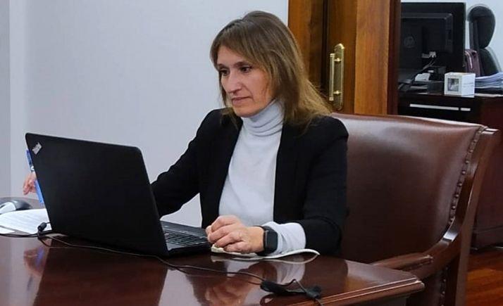 La consejera de Educación, la soriana Rocío Lucas.