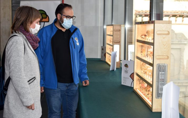 Yolanda Santos y José Antonio Vega en la apertura de la muestra. /Ayto