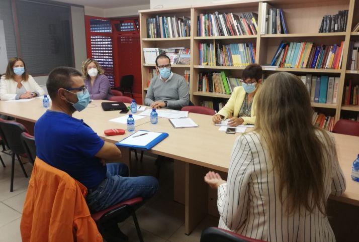 Reunión mantenida en el PSOE de Soria.