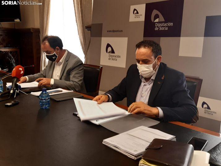 Benito Serrano y Raúl Lozano durante la rueda de prensa.