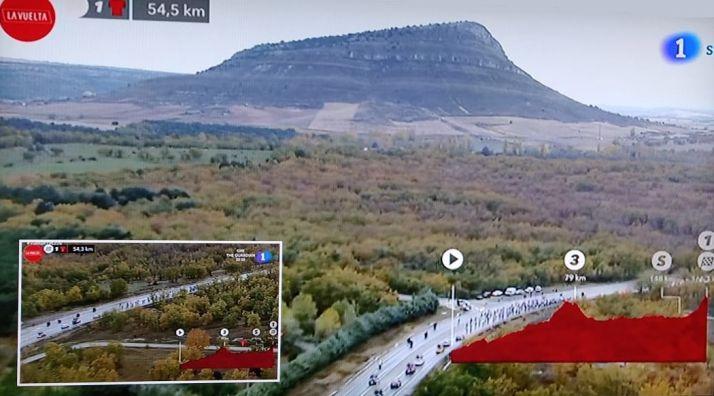 Contracrónica del paso de La Vuelta por Soria: El Pico Frentes se llama ahora Valonsadero para 190 países