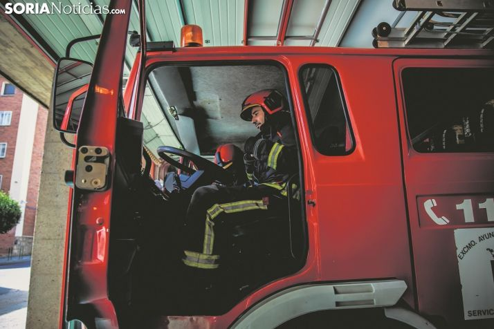 Los bomberos de Soria en una imagen de archivo.