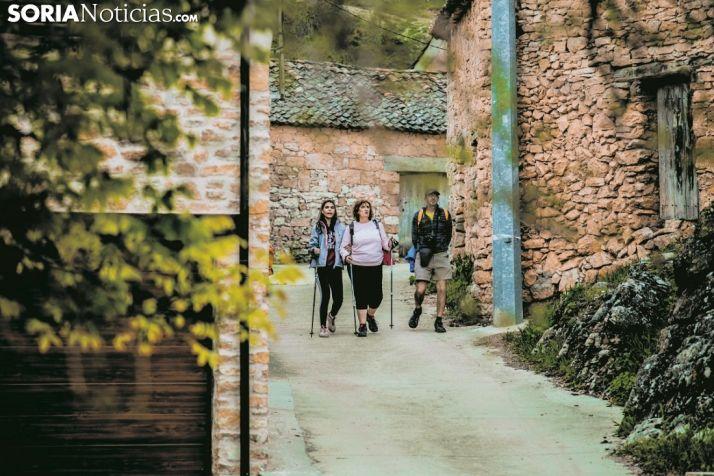 Turistas en la provincia de Soria.