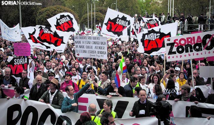 Imagen de la Revuelta de la España Vaciada en Madrid.