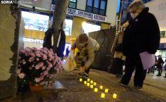 Velas hoy en Soria, para recordar a las asesinadas por violencia de género en España. /SN