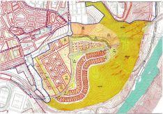2006. Plano aprobado por el Ayuntamiento de Soria del PGOU en el sector sur-D4