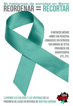 Foto 2 - La plataforma propone lazos verdes por una sanidad digna en Soria