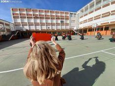 Una imagen del patio de Escolapias este domingo. /SN