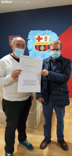 Peña Barcelonista Soria en el acto solidario.
