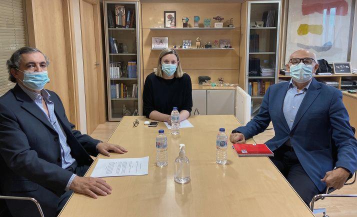 La consejera, con representantes del CERMI de CyL. /Jta.