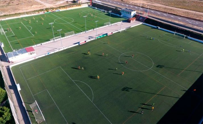 Vista aérea de la Ciudad Deportiva del CD Numancia. /CDN