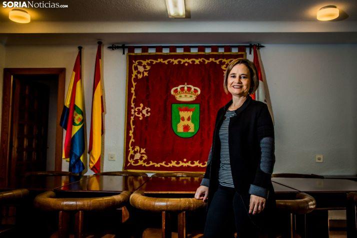 Elia Jiménez, alcaldesa de Ólvega.