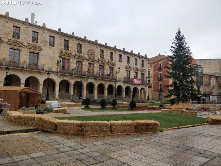 Comienza la instalación del Belén más grande de la historia de Soria