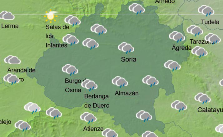 El cielo en la provincia a las 13:00 horas. /AEMET