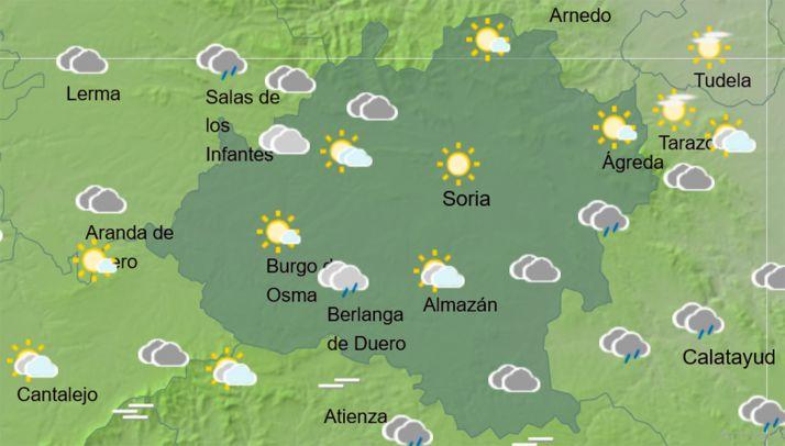 Pronóstico del cielo a las 14:00 horas. /AMET