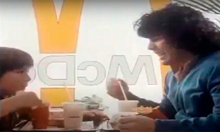 Maradona, una hamburguesa y Soria