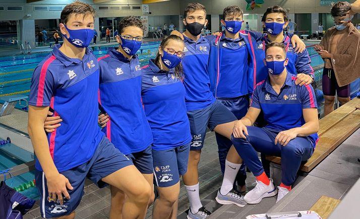 Nadadores sorianos en las instalaciones Río Esgueva de Valladolid. /CNS