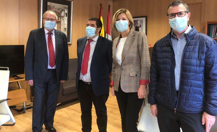 Delgado, Mitadiel, Tabernero y Pérez tras el nombramiento. /Jta.