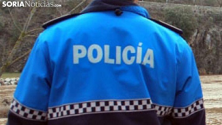 Un policía local de Soria en una imagen de archivo.