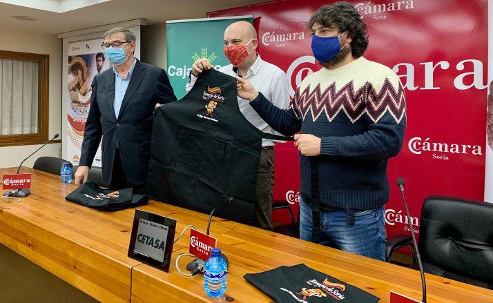 Samuel Moreno, Juanjo Delgado y Rubén García en la presentación de la iniciativa. /Cámara