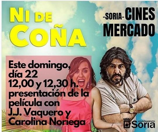 Foto 1 - J.J. Vaquero y Carolina Noriega presentan en Cines Mercado su película 'Ni de Coña'