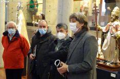 Mínnguez (dcha.), junto a Pérez, Arlegui y Bárez en la apertura de la muestra. /SN