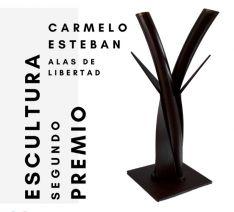 El soriano Carmelo Esteban, segundo premio de escultura en el certamen Askatasunarte