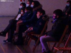 Una imagen de la función en el polideportivo de Camaretas, esta tarde. /SN