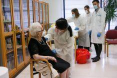 Fotos: Felicitas Jiménez Ridruejo, de 97 años, la primera soriana vacunada contra el Covid