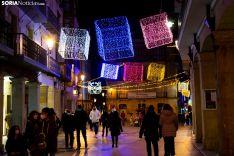 Navidad en el centro de Soria. /María Ferrer