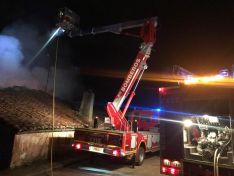 Imágenes del incendio en Herrera de Soria.