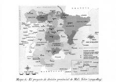 Mapas de la publicación 'División Territorial de España. Provincias y Partidos Judiciales.175 años', de Juan Gómez Díaz.