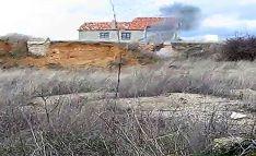 Imagen de la explosión controlada de uno de los proyectiles. /GC