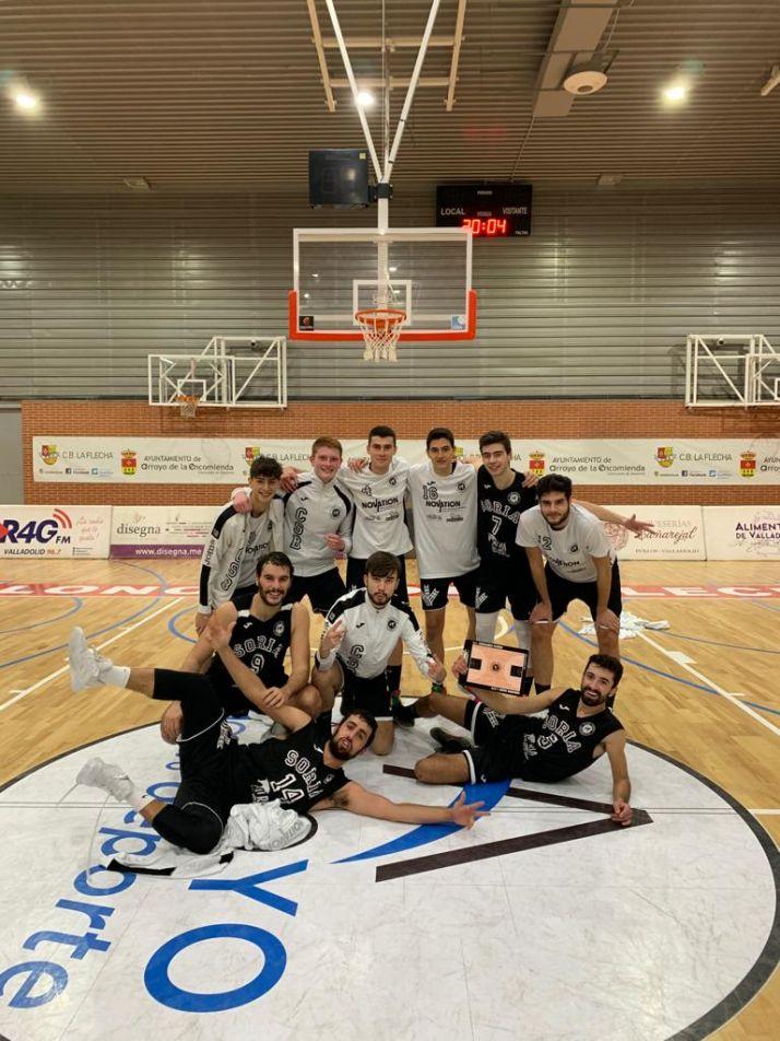 Foto 1 - Enorme victoria del Baloncesto Soria ante el CF. La Flecha por 62-65 en Valladolid