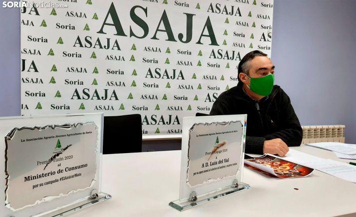 Carmelo Gómez, presidente de ASAJA Soria, en comparecencia de prensa a comienzos de este mes. /SN