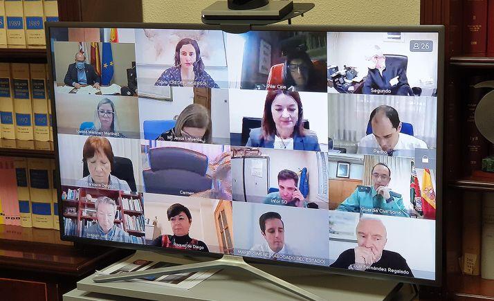 Reunión por videoconferencia de la última Comisión de Asistencia al Subdelegado. /SdG