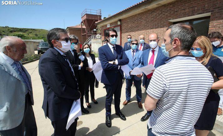 Visita del consejero de Fomento a la depuradora de Ágreda en junio pasado. /SN