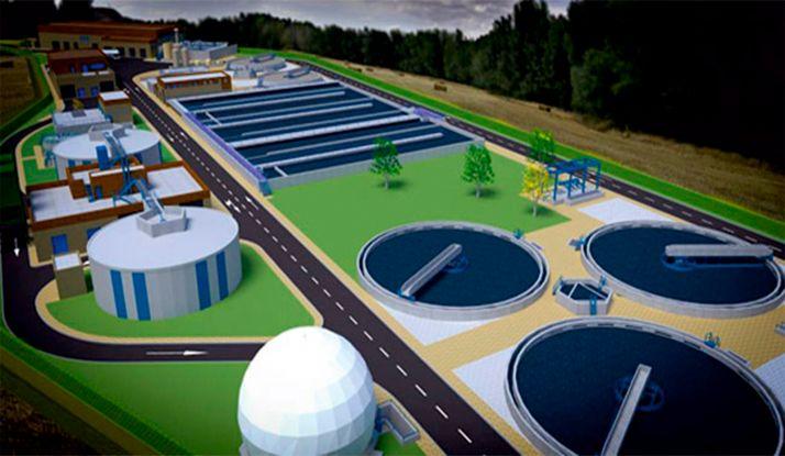 Imagen del proyecto de la futura EDAR.